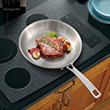 9 inch Tri-Ply Stainless Steel Frying Pan Stainless Steel Skillet Induction Pan,Pro-Health Professional Open Skillet,Saute Pan ,Dishwasher /Oven Safe