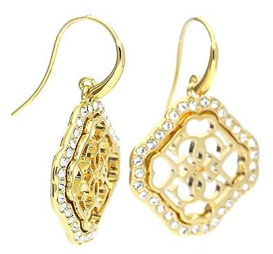 83a780db4 Guess Women Stainless Steel Zircon Earrings: Amazon.co.uk: Jewellery