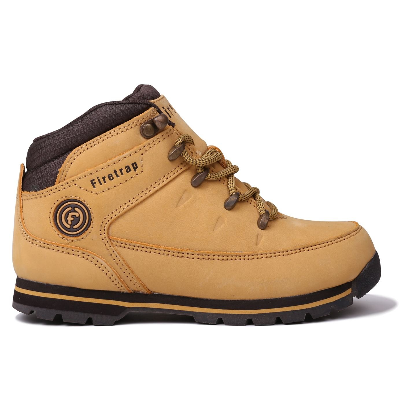 Firetrap Kids children Rhino Leather Lace Up Walking Hiking Outdoor Shoes Boots Honey/Brown UK C13 (32)