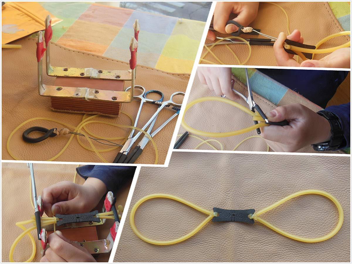 o a 2 o a 4 o a 6 Fili GM/&BW Sacchetti Toppa per Fionda Professionale-Adatta per Fasce Elastiche Piatte e Tubo di Lattice Elastico in Loop -Confezione da 10 o 20 o 30 Pezzi