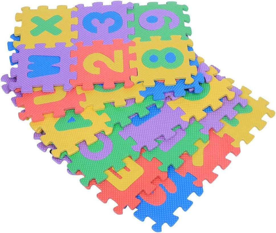 Alfombrilla cuadrada de espuma suave de EVA para bebé, niños y niñas, 72 unidades, números 0 – 9 y letras A – Z Talla:12 x 12cm