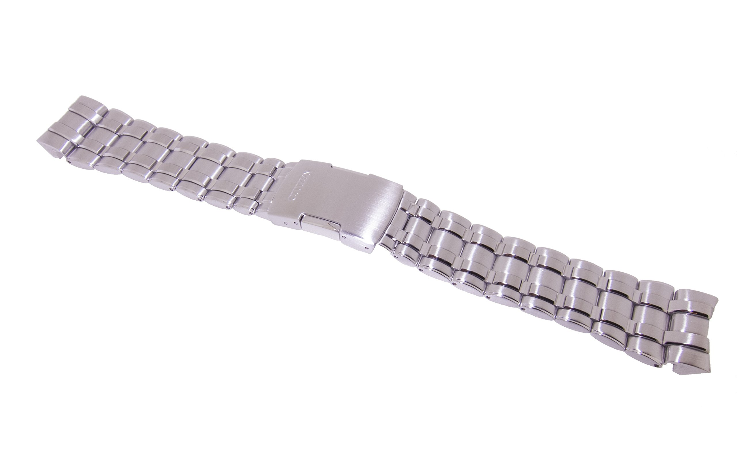 Citizen 59-S02802 Original Replacement Silver Tone Stainless Steel Watch Band Strap fits JY0000-53E JY0001-51E JY0020-64E JY0040-59L JY0100-59E U600-S041341 U600-S048257 U600-S049679 U600-S052190 U600-S069092
