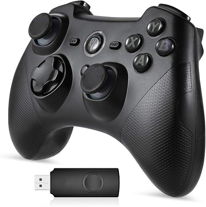 Mando Inalámbrico, [Regalos] EasySMX 2.4G Wireless Gamepad, Controller Wireless Incorporado Bateria con Vibración Dual y TURBO para Windows/PS3/Android/Tablet / PC, Joystick Inalámbrico: Amazon.es: Electrónica