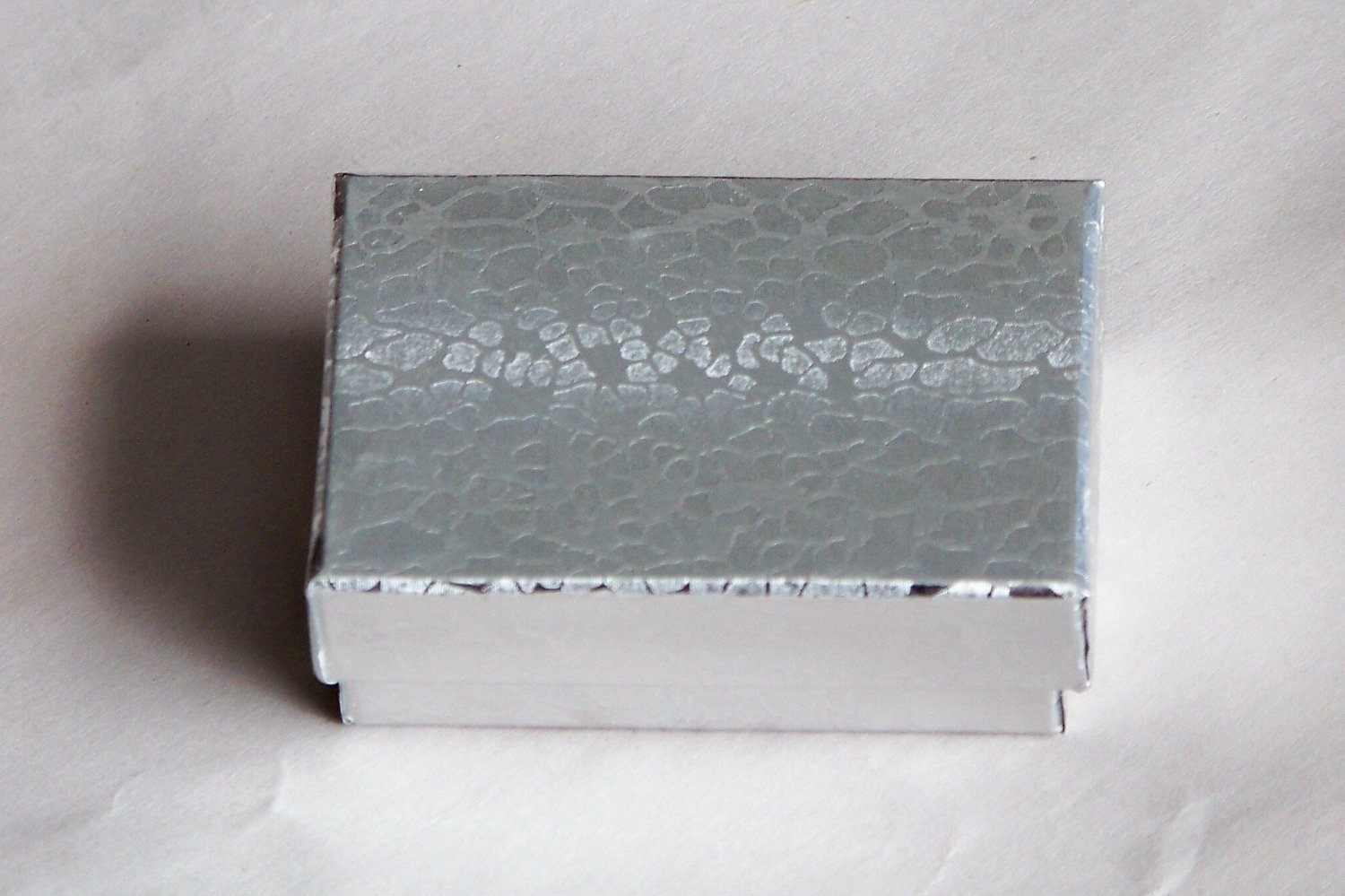 Cotton Filled Jewelry Gift Boxes Silver Color 1 3/4'' X 1 1/4 100pcs