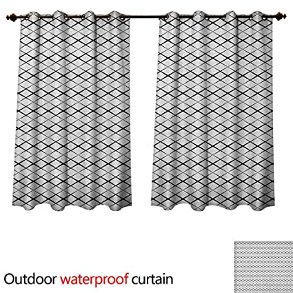 Amazon Com Black And White Outdoor Ultraviolet Protective Curtains