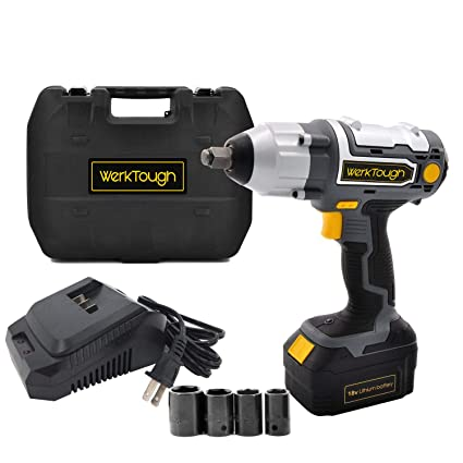 1 2 Cordless Impact >> Werktough 1 2 Inch Cordless Impact Wrench 18 20v Battery Operated Electric Impact Driver Wrench Kit Battery Charger Included Iw03