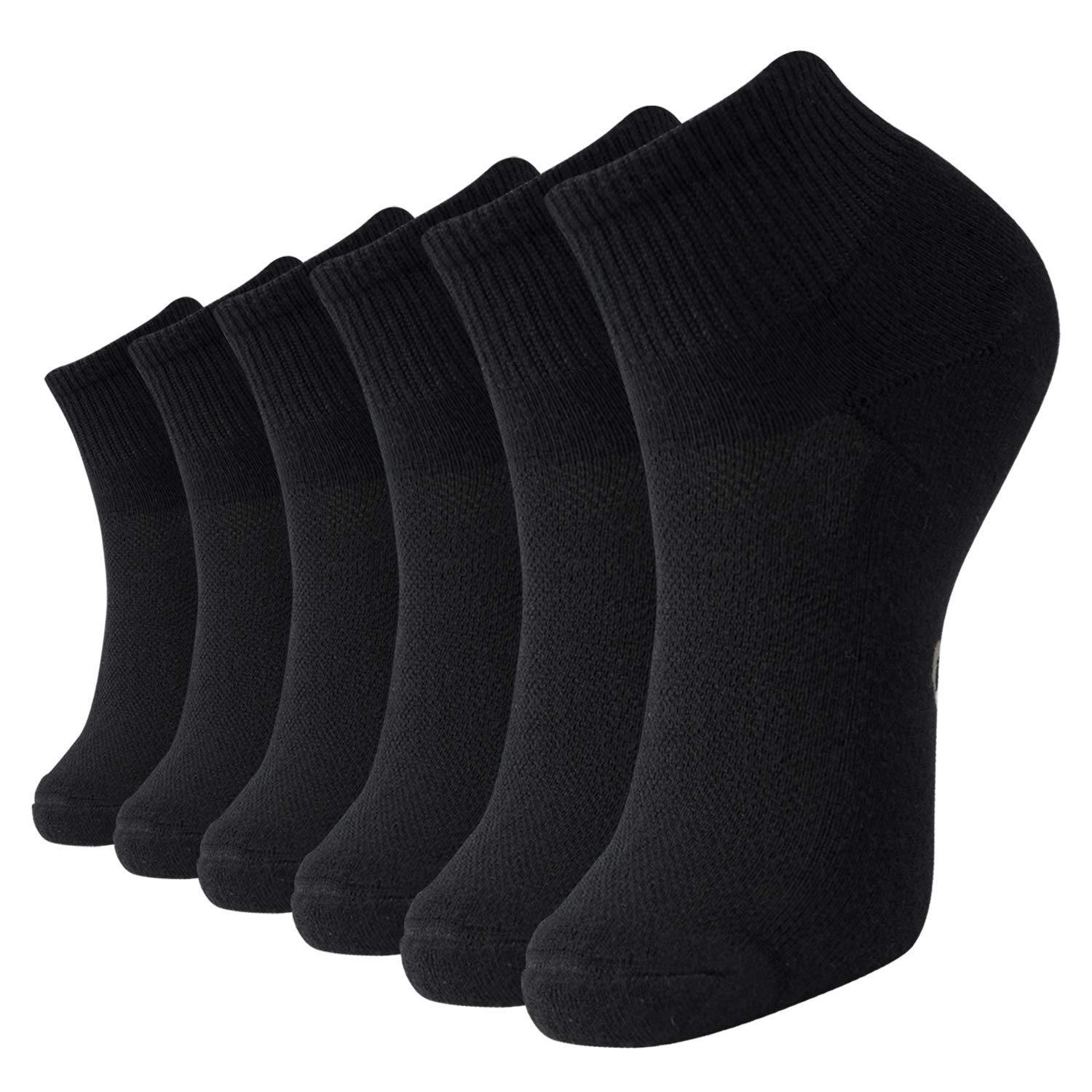 +MD 6 Pack Womens and Mens Ultra Soft Rayon from Bamboo Ankle Socks Cushioned Sole Quarter Casual Socks