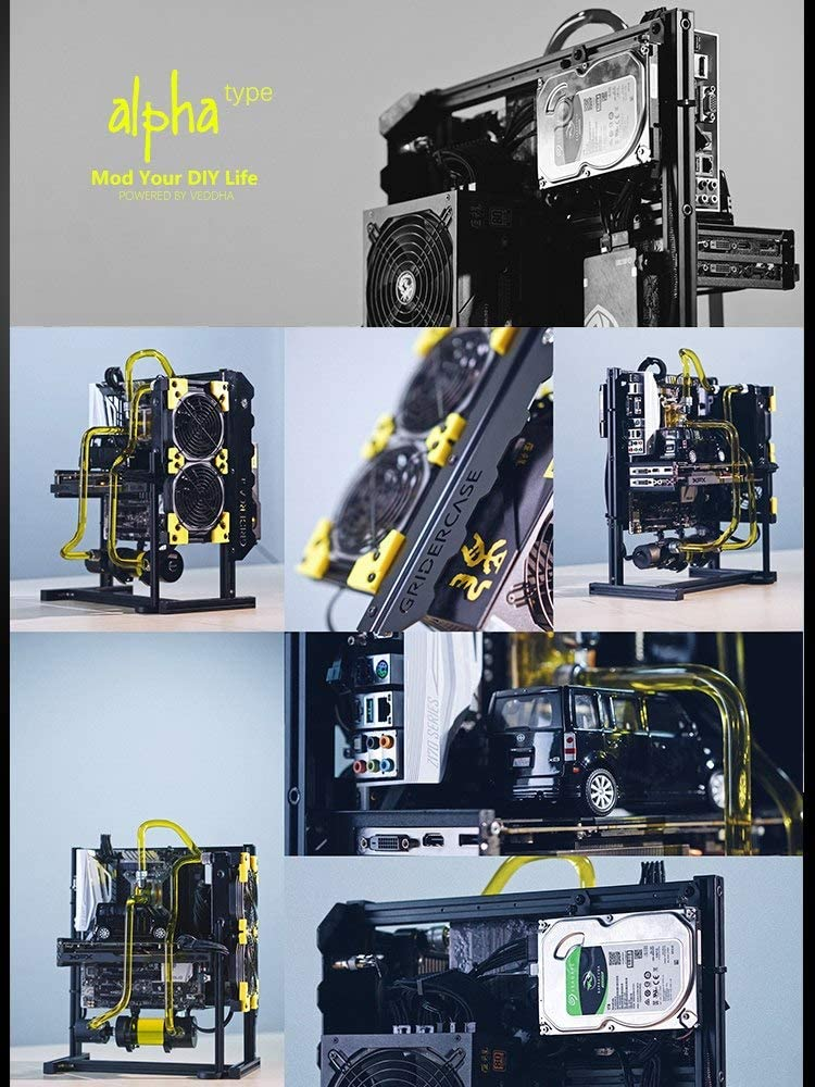 ITX Matx ATX Water Cooling Motherboard Test Bench Open Air Frame Computer Case Aluminum Bracket DIY Bare Frame Support Graphics Card