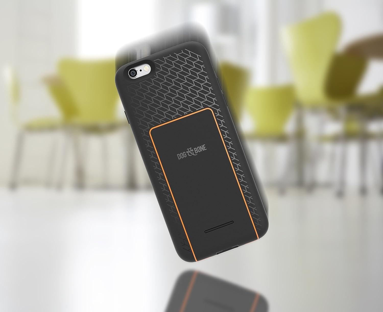Wireless Charging iPhone 6 Black /& Orange Dog /& Bone Backbone Starter Pack iPhone 6s case with Wireless Charge Pad