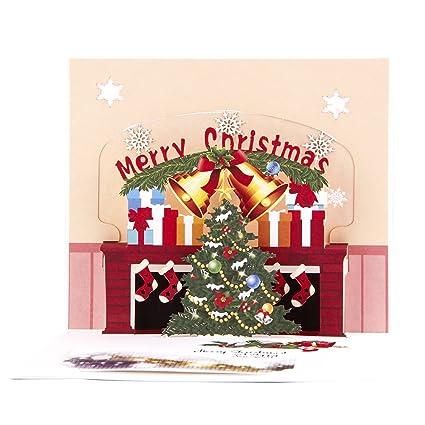 amazon com paper spiritz pop up christmas card christmas tree card