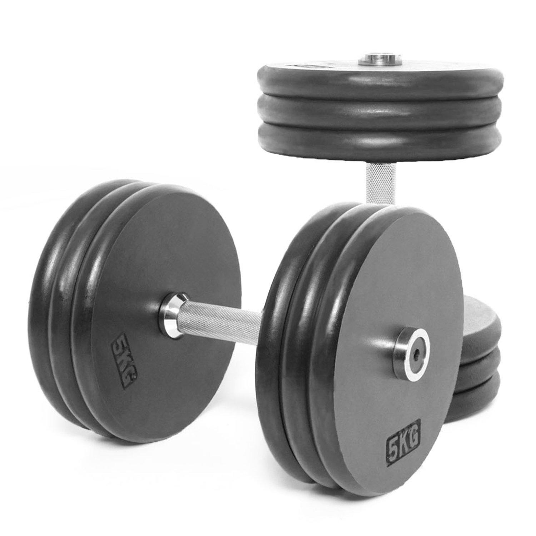 Power Body Bodypower Pro-Style Mancuernas 30 kg (X2): Amazon.es ...