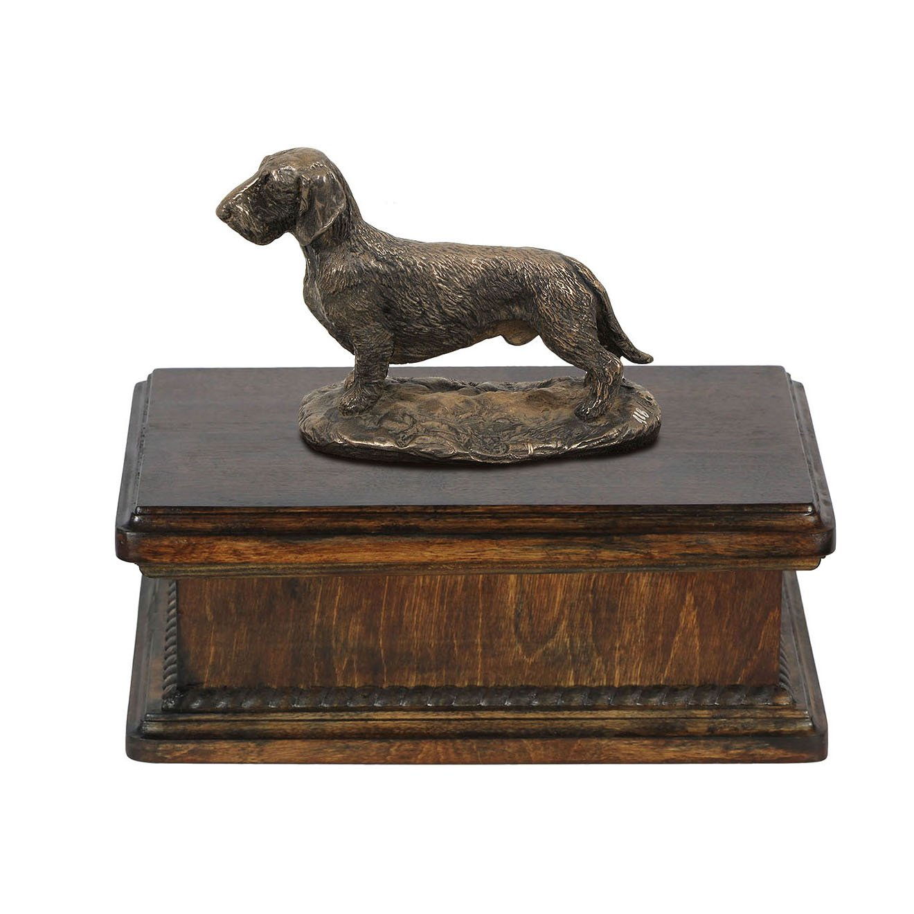 Dachshund, memorial, urn for dog's ashes, with dog statue, exclusive, ArtDog