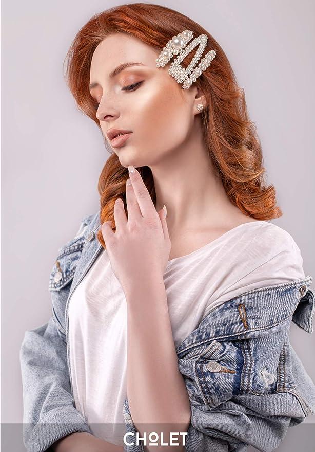 2x Girl Women Metal Pearl Hair Pin Barrette Clips Side Hairpin Hair Accessory CA