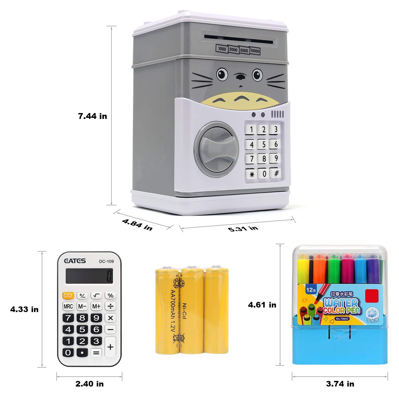 DDGG Cartoon Piggy Bank Electronic Password Piggy Money Bank Cash Coin Can 1234