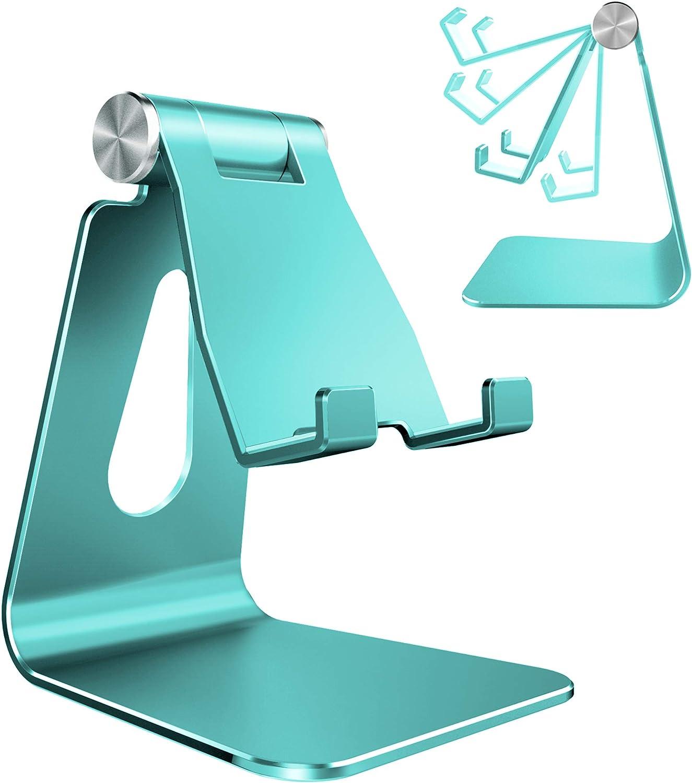 Soporte de aluminio p/ smat phone,, Ajustrable  verde menta