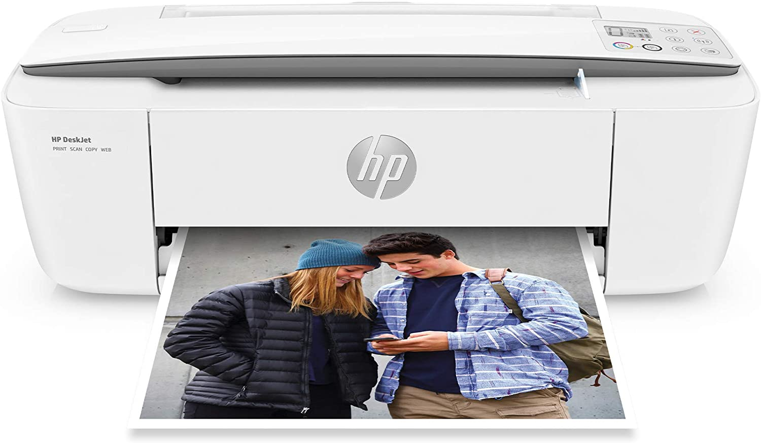 Hp DeskJet 37xx Series Wireless All-in-One Compact Color Inkjet Printer - Instant Ink Ready - Print, Scan, Copy for Home Business Office - lcon LCD Display, Up to 1200 x 1200 dpi