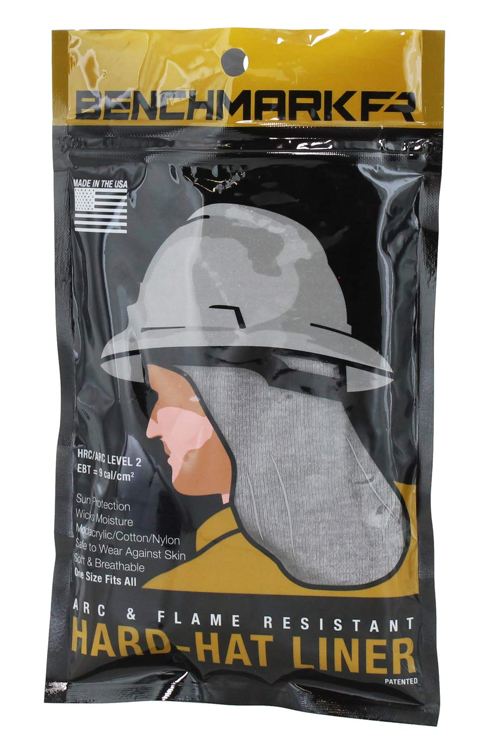Flame Resistant FR Hard Hat Liner Lt Light Gray One Size Fits All Hard Hats Gray Sun Shade