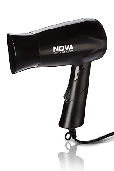 Nova NHP 8100 Silky Shine 1200 W Hot and Cold Foldable Hair Dryer  Black