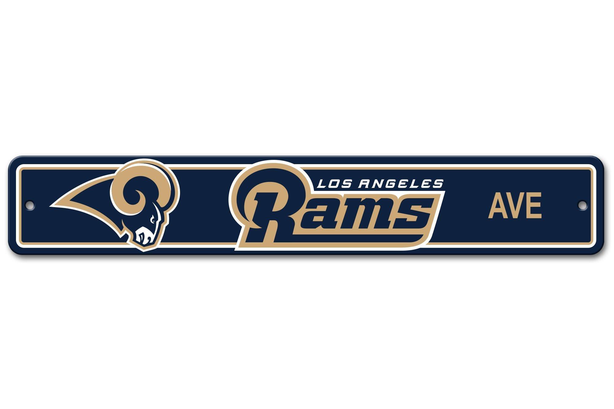 NFL Los Angeles Rams Plastic Street Sign, Navy