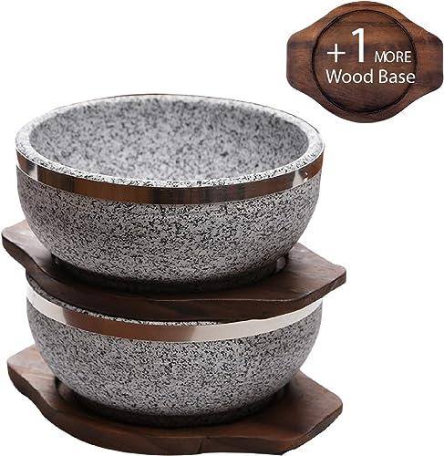 KoreArtStory Dolsot-Bibimbap Stone Bowls 32oz