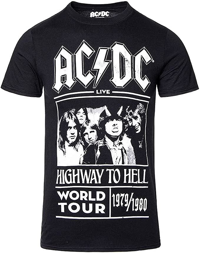 Camiseta AC/DC – Highway to Hell Tour 1979-1980: Amazon.es: Ropa y accesorios
