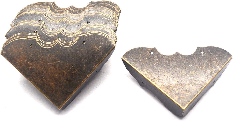 "Tulead 30PCS Antique Bronze Corner Protector Kitchen Cabinet Metal Corner Guards Decorative Box Edge Protector 2""x2""x0.5"" with Mounting Screws"