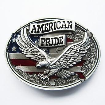 a61670cffe6 Boucle ceinture pour lanière universelle aigle American pride  Amazon.fr   Auto et Moto