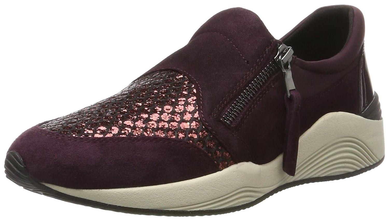 Geox D Omaya a, Zapatillas para Mujer 38 EU|Morado (Prune/Dk Burgundy)