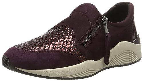 Scarpe Geox OMAYA Donna Scarpe Scarpe Basse Sneaker viola NUOVO