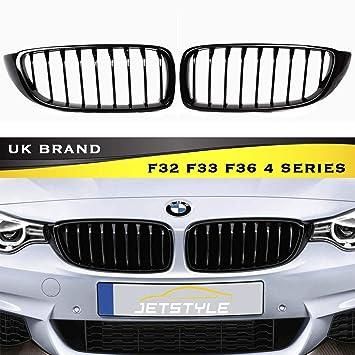 Für BMW 4er F32 F33 F36 F82 M M4 Design Nieren Kühlergrill Grill Glanz Schwarz