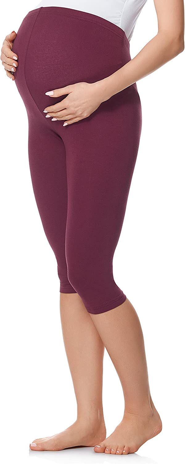 Be Mammy Legging 3//4 Pantacourt Pantalon Grossesse Maternit/é BE20-229