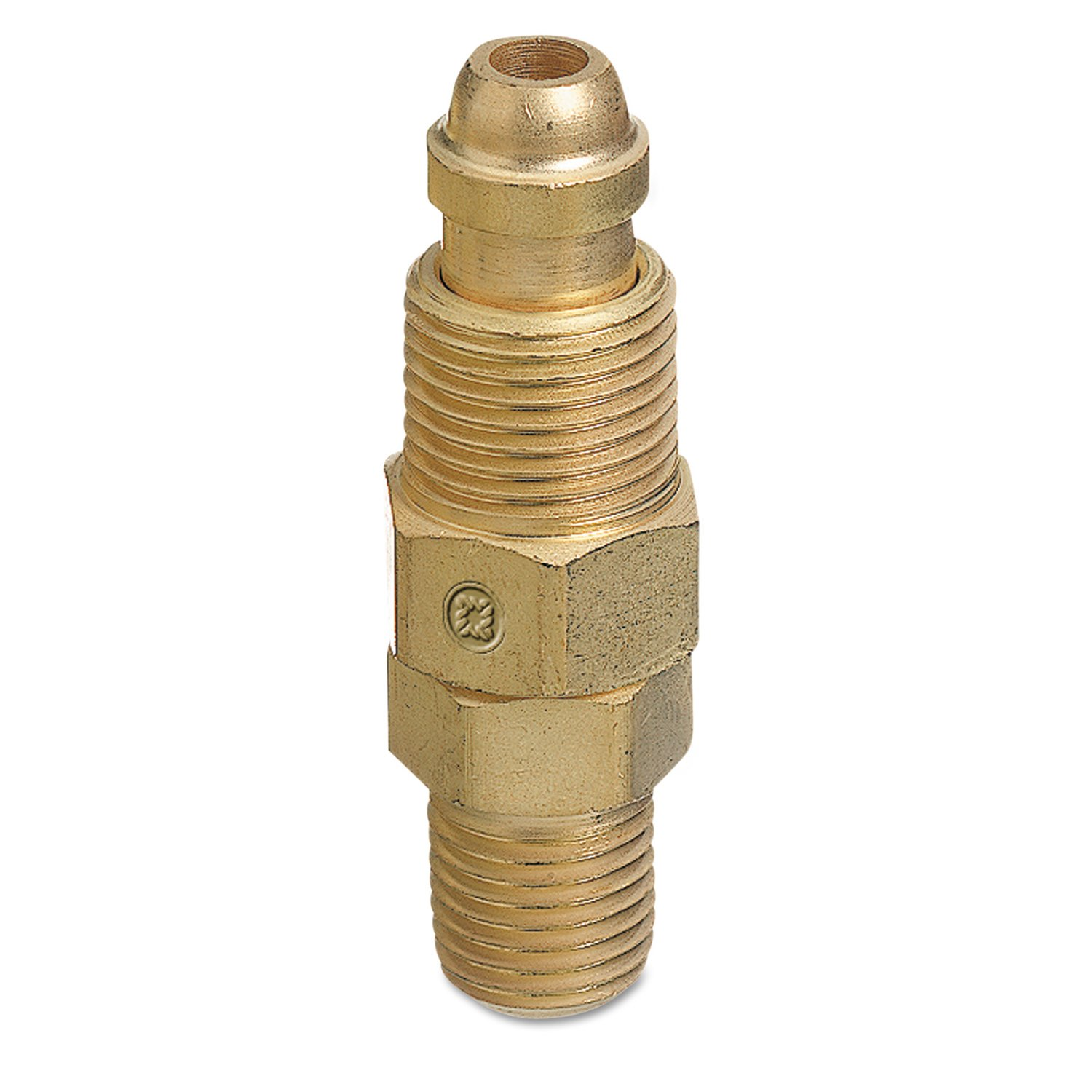 Male//male Connection Straight 0.5 Length B-Size Brass RH Western Enterprises AW-427 Inert Arc Hose /& Torch Adapters