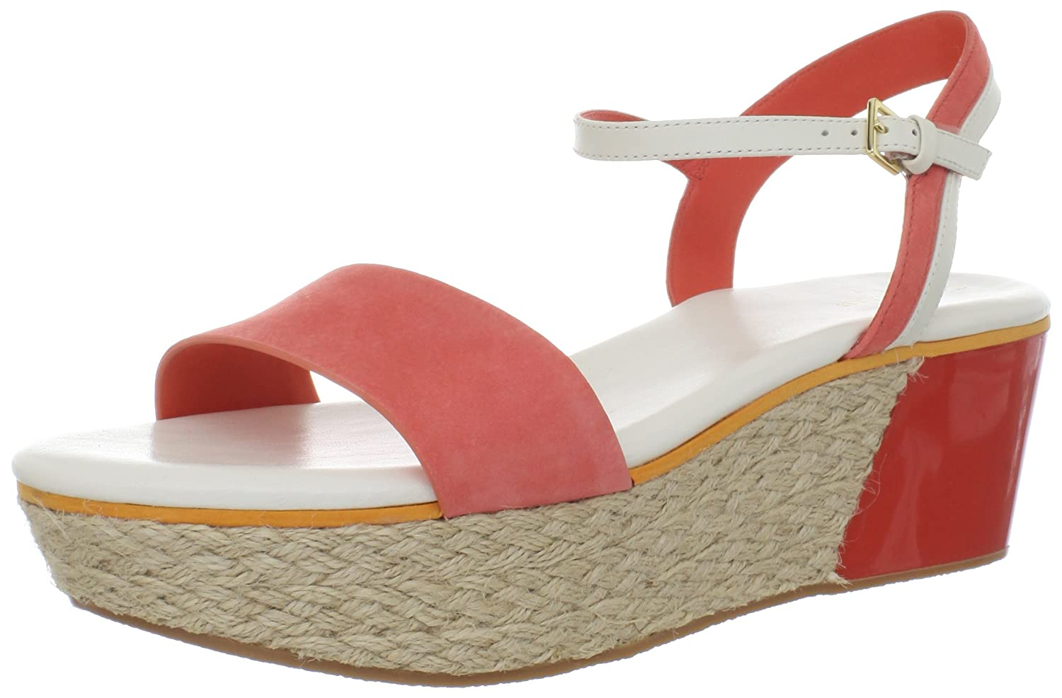 Cole Haan Women's Arden Platform Wedge Sandal B0090OBS8A 7.5 B(M) US|Orange Pop