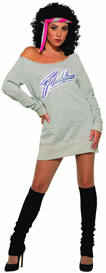80s Costumes, Outfit Ideas- Girls and Guys Forum Novelties Womens Flashdance Alex Owens Costume $27.48 AT vintagedancer.com
