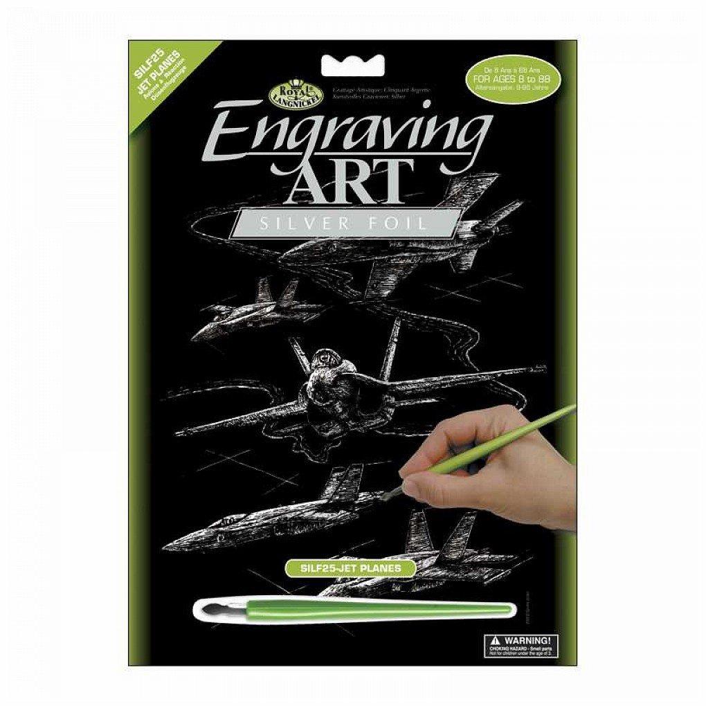 Silver Foil Engraving Art Kit 8''X10''-Jet Planes