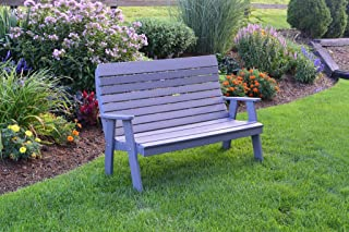 product image for Outdoor Winston Garden Bench - 5 Feet - Dark Gray Poly Lumber