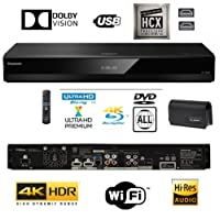 Panasonic DP-UB820EBK Smart 3D 4K UHD Upscaling Blu-Ray /DVD (MULTI REGION) Player with High Resolution Audio, Ultra HD Premium Certified - WiFi -TWIN HDMI/OPTICAL Connection.