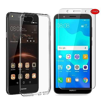 16a6494407a88 3 en 1  MYLBOO Funda Huawei Y5 2018 con  2 Pack Protector de ...