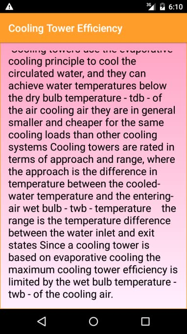 Amazon com: Cooling Tower Efficiency: Appstore for Android