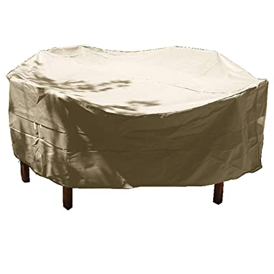 """Patio Set, Conversation Set Covers 96"""" Dia. Fits Square, Oval and Round Table Set, NO Center Hole : Garden & Outdoor"""