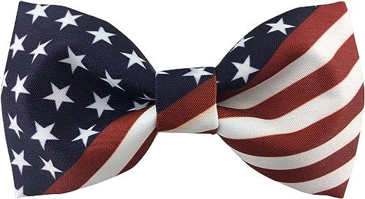 US American Flag Bow TIE/_Men's Premium Dress Tuxedo Bow Tie/_Red White Blue/_GIFT