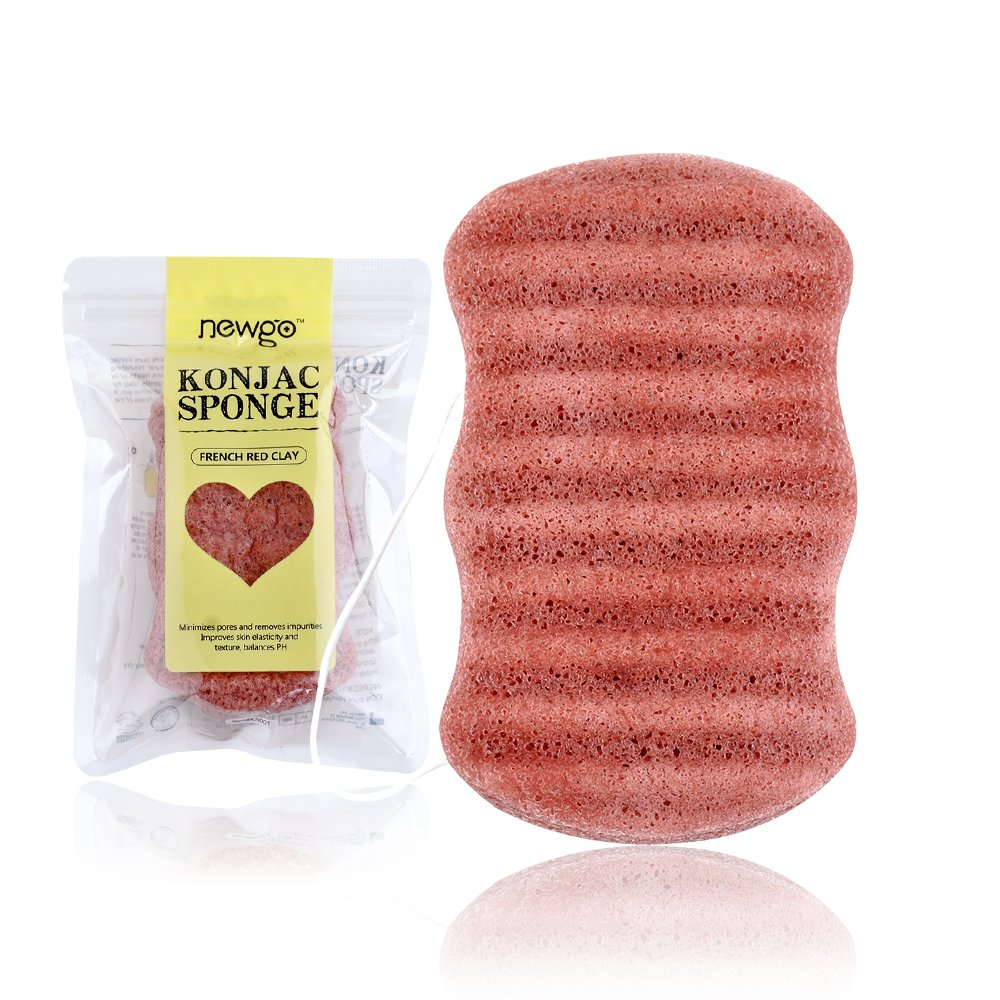100% Pure Natural Ale Konjac Sponge, for Body Washing Sponge Bokai KS011