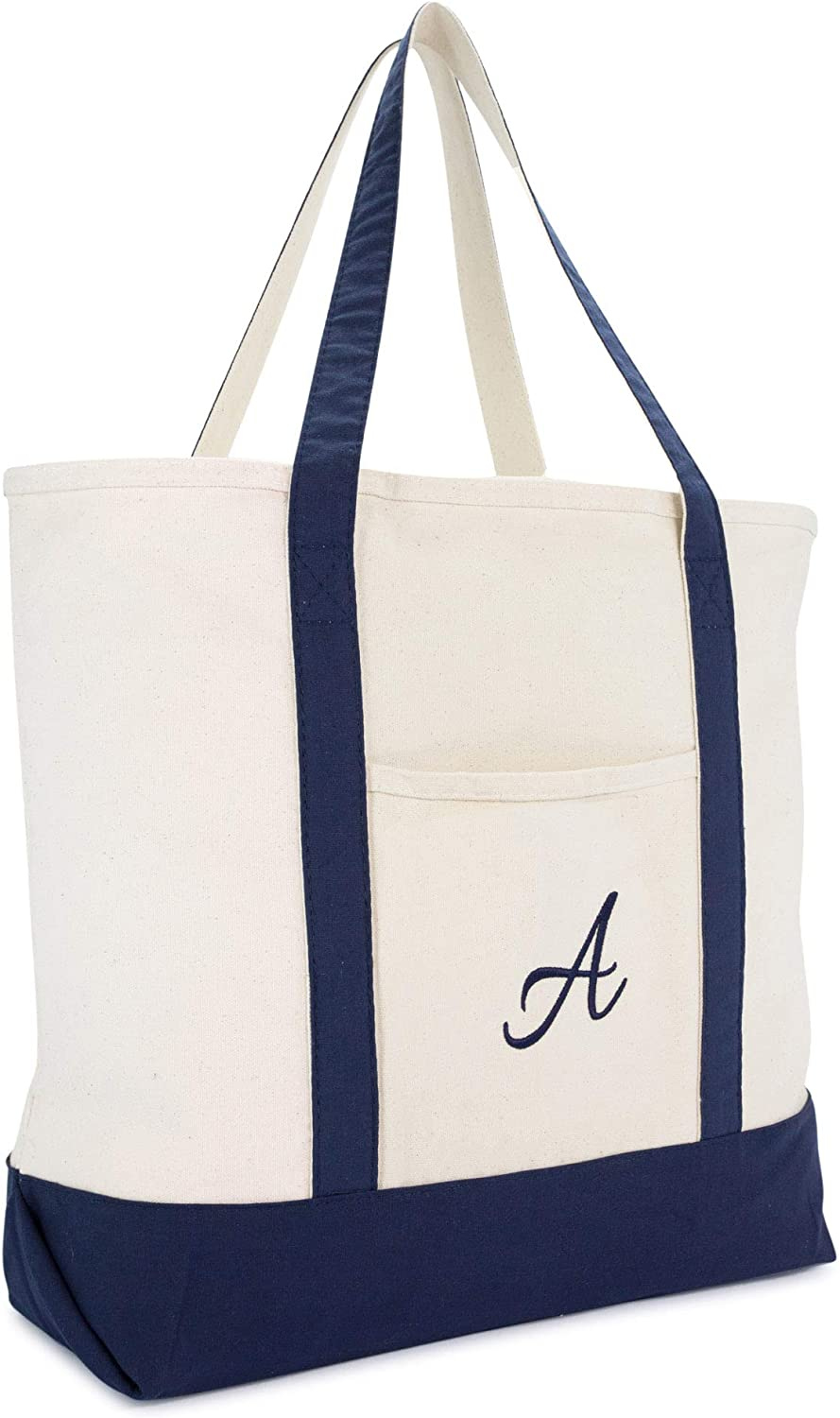 Black tote bag with personalised letter Alphabet Bags Monogram Book Bag, Monogrammed Tote Bags for Women