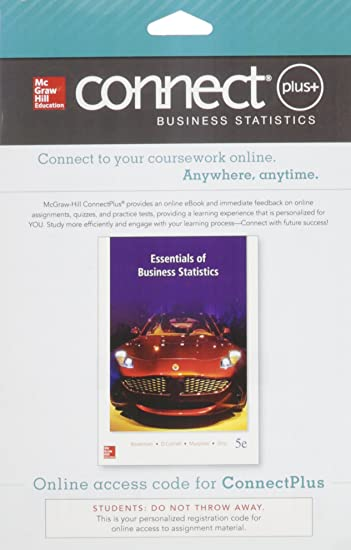 Amazon connect 1 semester access card for essentials of connect 1 semester access card for essentials of business statistics fandeluxe Image collections