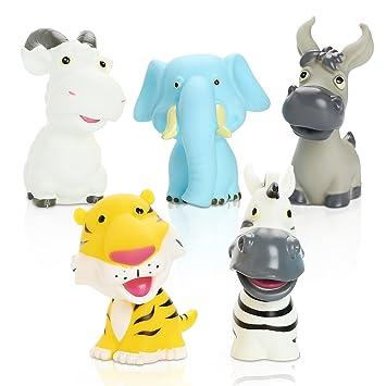 Peradix Juguetes de Baño de Goma para Niños en Forma de Animales ...