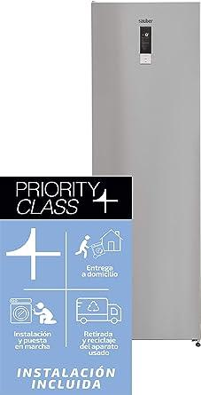Sauber - Congelador vertical SCV186I Tecnología NOFROST ...