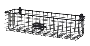 Spectrum Diversified Vintage Wall Mount Storage Basket, Industrial Gray