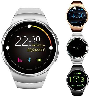 Reloj inteligente Bluetooth GPCT [Android/iOS] con pantalla táctil, resistente al agua