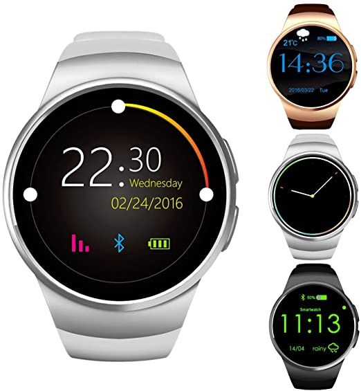 newest 40453 f9db8 GPCT Bluetooth [Android/iOS] Touch Screen [Water Resistant]  Workout/Sleep/Heart Rate Monitor [Smart Watch] for iPhone 7 Plus/7/6s  Plus/6s/6/5, Galaxy ...