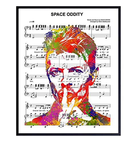 no frame Space Oddity David Bowie Inspired Art Print Poster Home Art Wall